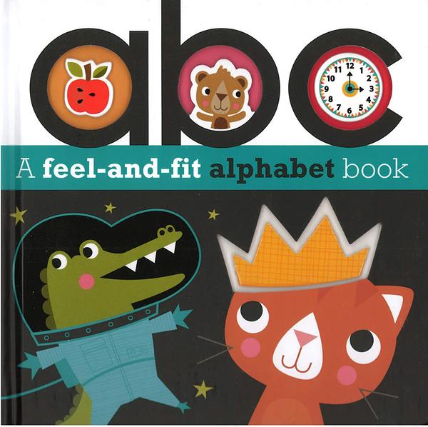 【麥克書店】A FEEL AND FIT ALPHABET BOOK:ABC/硬頁書 《主題:字母.認知》