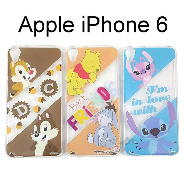 迪士尼透明軟殼 iPhone 6 / 6S (4.7吋) [最佳拍檔] 奇奇蒂蒂 小熊維尼 史迪奇【Disney正版授權】