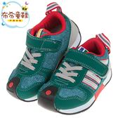 《布布童鞋》日本IFME森林綠流線透氣兒童機能運動鞋(15~19公分) [ P8N111C ]