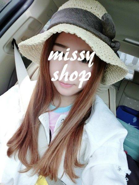 【 missy shop 】  日式手工軟勾針草帽 漁夫帽   可收折