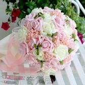 紗帶手捧 手捧花新娘結婚手捧花仿真韓式手捧花送胸花手腕花