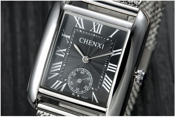 【美國熊】商務男士 簡約 個性 時尚 精鋼網帶 小秒盤 不鏽鋼石英腕錶  生日禮物[CX-068T]