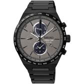 【台南 時代鐘錶 SEIKO】精工 SPIRIT 太陽能世界時間運動手錶 SSC527J1@V195-0AE0N 黑鋼 41mm