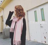 圍巾 新款冬天女士圍巾韓版百搭春春季上新季卡其駝色保暖披肩薄款純色圍脖·夏茉生活