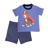 【北投之家】男寶寶套裝二件組 短袖肩扣上衣+短褲 藍狗狗 | Carter s卡特童裝 (嬰幼兒/小孩/baby)