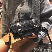 波士頓包 手提包 時尚亮片波士頓手提小包2017新款韓版枕頭包百搭斜挎女包包潮小包 免運 CY潮流站