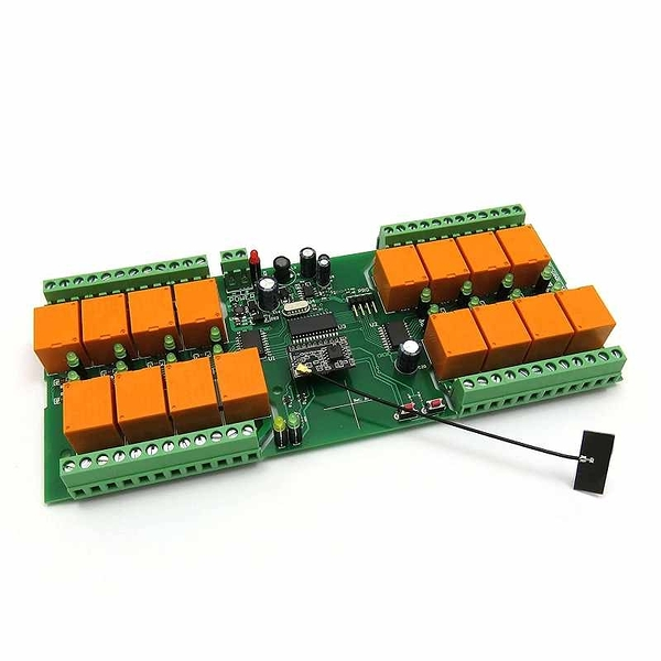 Denkovi WiFi 16 Relay Module, TCP/IP, UDP, Virtual Serial Port - PCB, 12V [2美國直購]