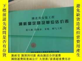 二手書博民逛書店罕見湖北省安裝工程消耗量定額及單位估價表第八冊Y248752 湖