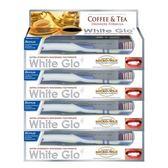【澳洲White Glo】咖啡茶漬特效牙膏150g(附牙刷+牙縫刷)×4