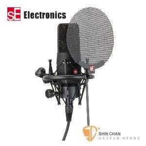 麥克風 ► 英國SE-X1 電容式錄音室麥克風組 內附 噴麥罩/防震架/麥克風線(SEX1)
