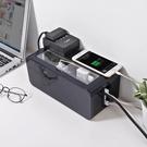 電線收納盒 桌面插線板集線盒電源線插座理...