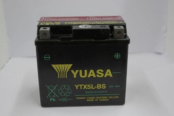 全館免運費【電池天地】YUASA 湯淺 YTX5L-BS 5號機車電池 機車電瓶 正廠零件