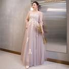 大尺碼禮服 3XL-6XL 可訂做蕾絲網紗晚宴小禮服一字領氣質優雅 #mw3928 @卡樂@