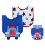 [Mamae] (2件入/組) 英國Rock a Bye Baby 卡車造型兒童吃飯衣 純棉圍兜 五角星 工程車 聯結車