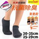 【衣襪酷】精梳棉 抗菌消臭船型棉襪 氣墊款 吸濕排汗 除臭 台灣製 金滿意