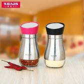 調味罐玻璃胡椒粉瓶 燒烤撒粉瓶304不銹鋼味精調料罐鹽糖作料廚房用品 創想數位