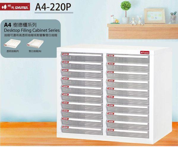 【樹德收納系列】桌上型資籵櫃 A4-220P (檔案櫃/文件櫃/收納櫃/效率櫃)