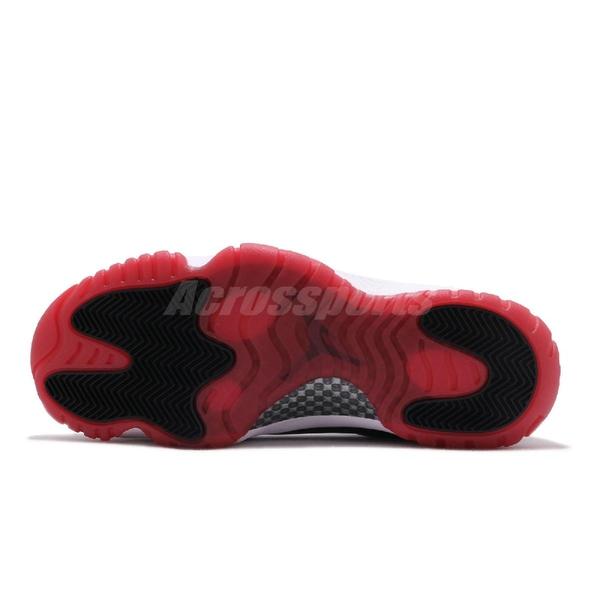Nike Air Jordan 11 Low Concord Bred 白 黑 紅 男鞋 低筒 AJ11 籃球鞋 運動鞋【PUMP306】 AV2187-160