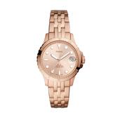 FOSSIL簡約個性玫瑰金時尚腕錶ES4748