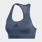 Adidas ALPHASKIN 女裝 運動內衣 慢跑 訓練 中度支撐 可拆式胸墊 吸汗快乾 灰藍【運動世界】GK0322