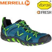 【MERRELL 美國 男款 WATERPRO MAIPO 藍色】 ML35579/越野鞋/休閒鞋/登山鞋/運動鞋/健行★滿額送