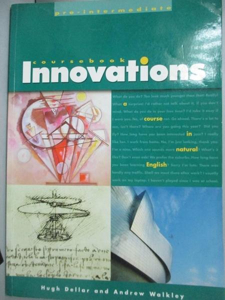 【書寶二手書T3/語言學習_ZBE】Innovation Pre Intermediate Student Book_H