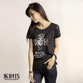 【BTIS】剪接圓領T-shirt / 黑色