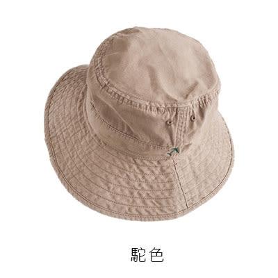 OT SHOP帽子 小飛機刺繡春夏棉質透氣漁夫帽 遮陽帽 穿搭配件黑色 淺橄欖綠 駝色 現貨 C2082