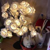 串燈led玫瑰花滿天星少女心房間裝飾臺燈臥室宿舍布置浪漫彩燈串燈