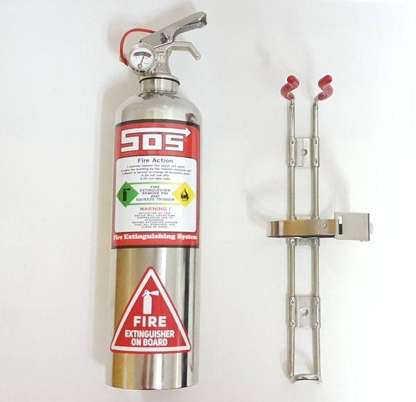汽車用滅火器 不銹鋼型賽道專用236高效能氣體兼催淚1型潔淨氣體-永久免換藥