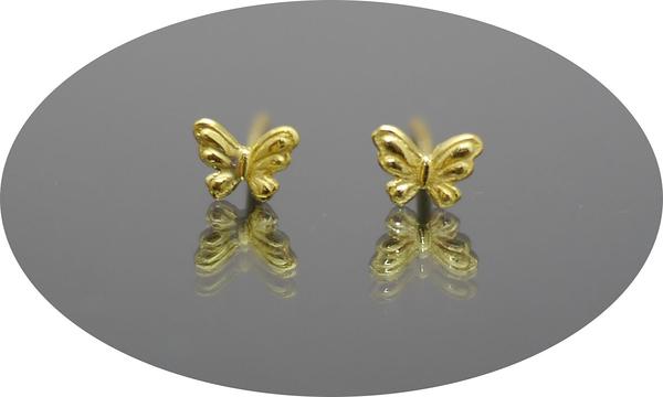 gold 黃金 耳環 金飾 保證卡 重量0.19錢 [ ge 047 ]