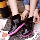冬季時尚雨鞋加棉水鞋韓版短筒女 刷毛成人套鞋保暖水靴防滑雨靴 快速出貨