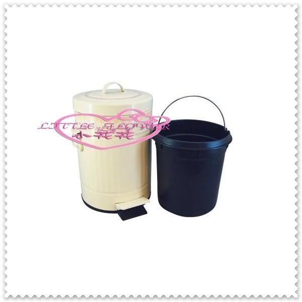 小花花日本精品 垃圾桶 腳踏式垃圾桶/雜物桶/踏式垃圾桶 歐式 田園玫瑰 米色(小)57006703