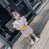 2018夏季新款女童香蕉背帶褲嬰童寶寶可愛
