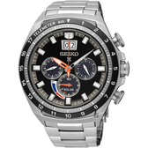 SEIKO精工 Prospex 太陽能計時手錶-黑x銀/45mm V194-0AA0D(SSC603P1)