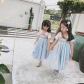 女童唐裝夏民族風公主復古中國風童裝改良襦裙漢服洋裝