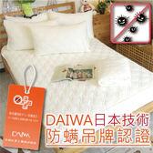 保潔墊雙人加大平鋪式(單品)【高質感防螨抗菌】6x6.2尺、細緻棉柔  #日本大和防螨認證SEK