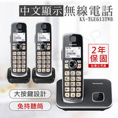 超下殺【國際牌PANASONIC】中文顯示大按鍵無線電話 KX-TGE613TWB
