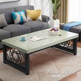 茶几簡約現代鋼木茶几 客廳簡易小戶型創意茶几桌子加厚鐵藝餐桌