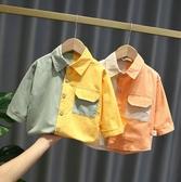 男童長袖上衣 兒童襯衫長袖韓版小童裝2020新款秋季寶寶棉上衣男童襯衣洋氣潮