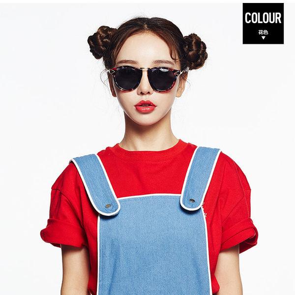 潮復古偏光太陽眼鏡 箭頭炫彩時尚墨鏡 長圓臉潮女眼鏡