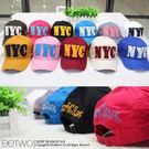 彼兔 betwo.帽子 QRA*多色潮流NYC英字拼接單色鴨舌棒球帽【81-AM97】06080192現貨