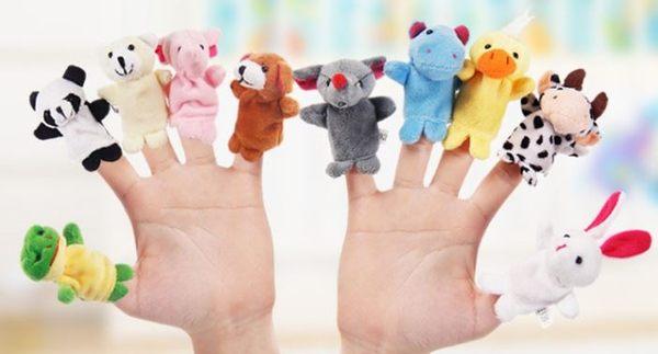 卡通小動物手指玩偶/說故事/認識動物(10隻一包) 129元