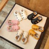夏季新款寶寶涼鞋0-1-2歲嬰幼兒軟底學步鞋~