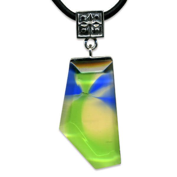 鹿港窯~開運古法水晶琉璃項鍊~創作新樣式【長鑽 】附精美包裝◆免運費送到家
