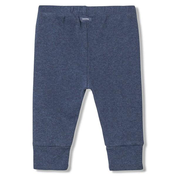 Gap男嬰兒 純棉寶寶針織內搭褲 柔軟中腰束腳長褲 595702-混合海軍藍