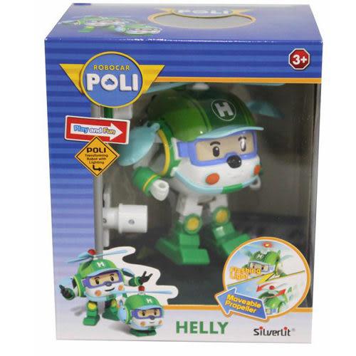 《 POLI 波力 》變形車系列 - LED變形赫利 ╭★ JOYBUS玩具百貨
