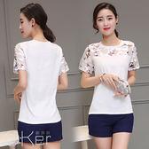 韓版顯瘦時尚兩件式休閒短褲套裝 O-Ker歐珂兒 LL81138-C