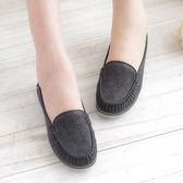 娃娃鞋 黑 女鞋 真皮平底娃娃鞋 懶人鞋《SV6950》HappyLife