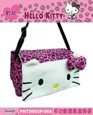 車之嚴選 cars_go 汽車用品【PKTD002P-09A】Hello Kitty 粉紅豹紋系列 多功能面紙盒套掛袋(可吊掛頭枕)